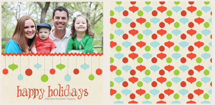 Get your custom family photo holiday cards started with modern green family m4hsunfo