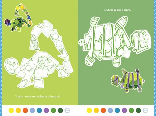 The Time of the Turtle interactive coloring book, interactive coloring book, eco play, eco electronics