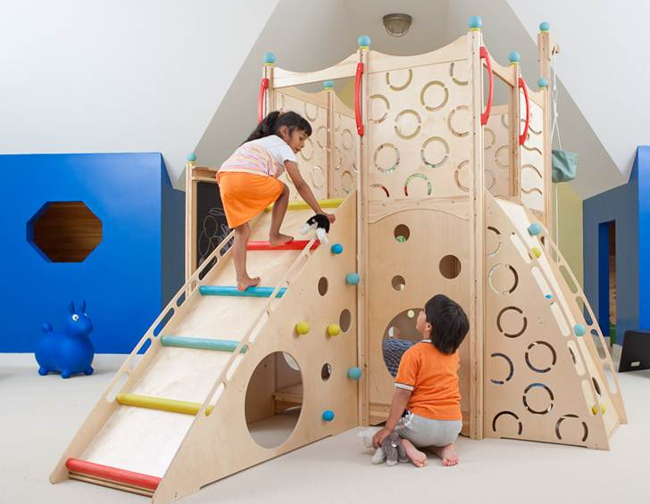 CedarWorks Rhapsody Indoor Playsets And Playhouses Bring Active Play Inside  All Winter Long | Inhabitots