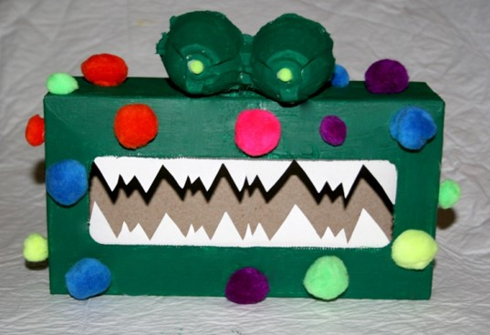 halloween monster candy box, monster candy box, decorate monster box