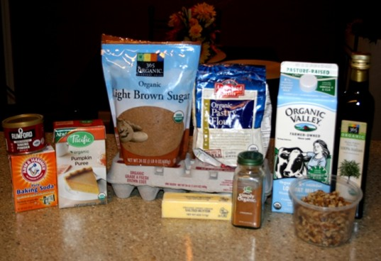 organic pumpkin pancakes, pumpkin pancakes, ingredients to make pumpkin pancakes