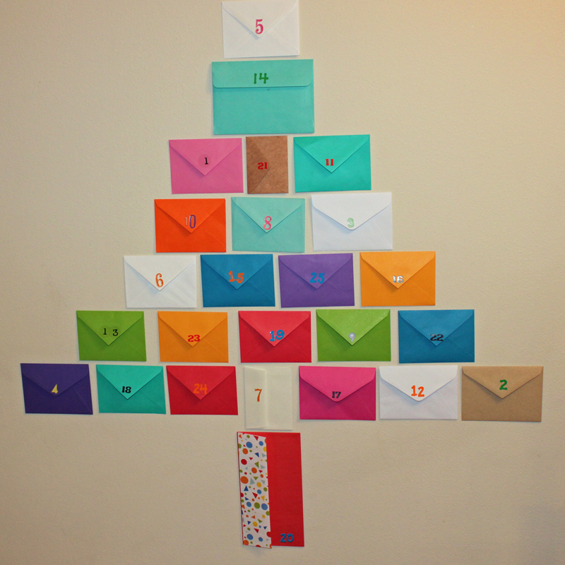Advent Calendar Envelopes Ideas : Diy make a last minute holiday activity advent calendar