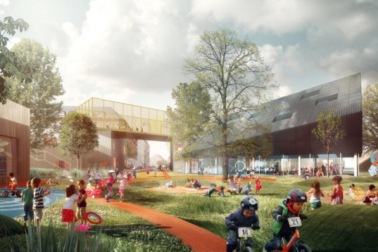 prinsessegade, copenhagen, denmark, cobe, kid city, nord architects, pk3, grontmij, daycare
