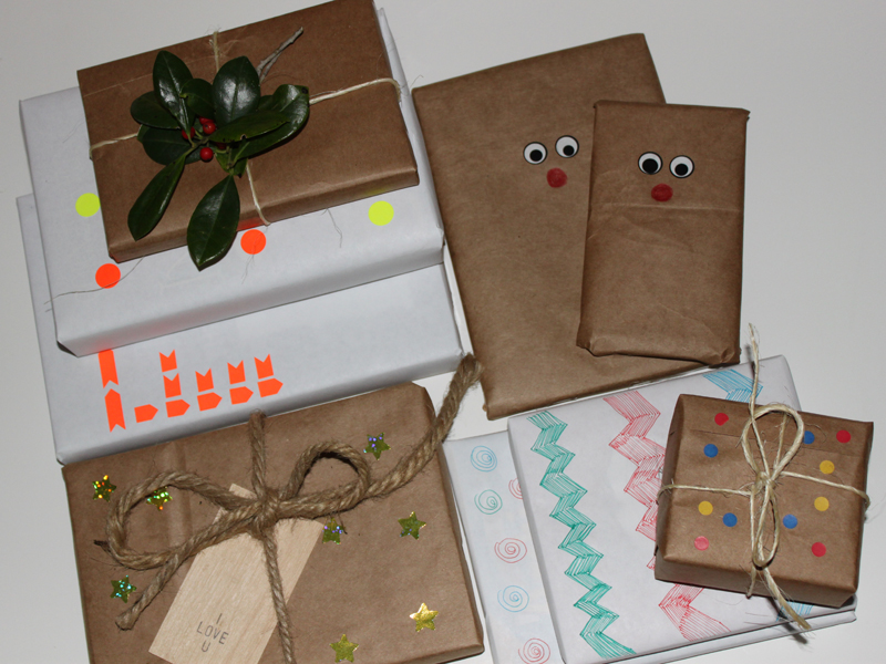 Diy 6 Ways To Make Your Own Holiday Gift Wrap Inhabitots