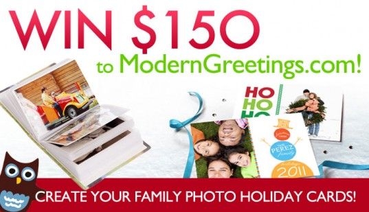 Last Chance to Win $150 to Modern Greetings, holiday photo greeting cards, make your own custom photo holiday cards, custom photo books, Moderngreeting.com, Modern Greetings