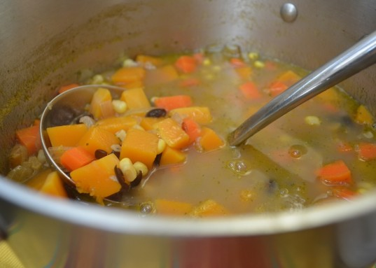 three sisters soup, vegan soup, healthy recipe, food