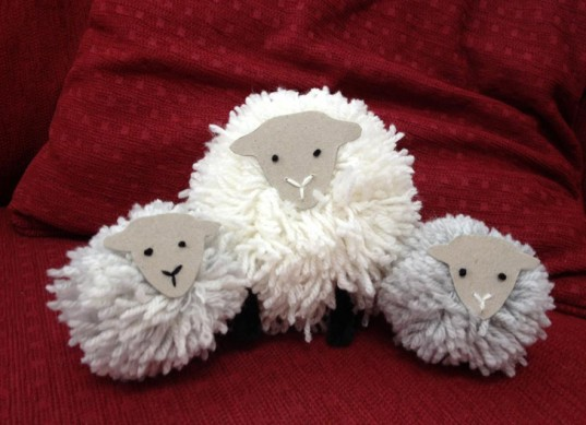 pompom sheep, shaun's pompom parade, pompom parade, eden arts sheep, pompom sheep project