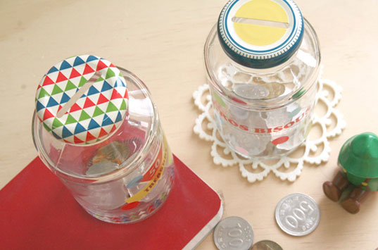 green design, parenting, green kids, saving, green family, green gifts, recycle coin bank bottle caps