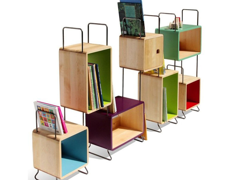 Good NONAHu0027s Modular Bookcase Bursts With Color And Green Design Possibilities |  Inhabitots