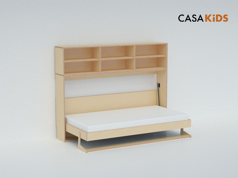 Space Saving Kids Beds casa kids' tuck bed folds away to save space | inhabitots