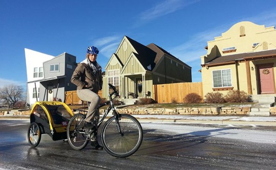 replacing short car trips with biking, ridekick child trailer, ridekick international, mark wanger, ridekick power trailer, electric-powered child trailer, indiegogo, light bicycle trailer battery, pulling kids on your bicycle in a trailer