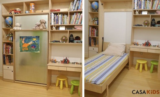 Space Saver Beds For Kids casa kids' tuck bed folds away to save space | inhabitots