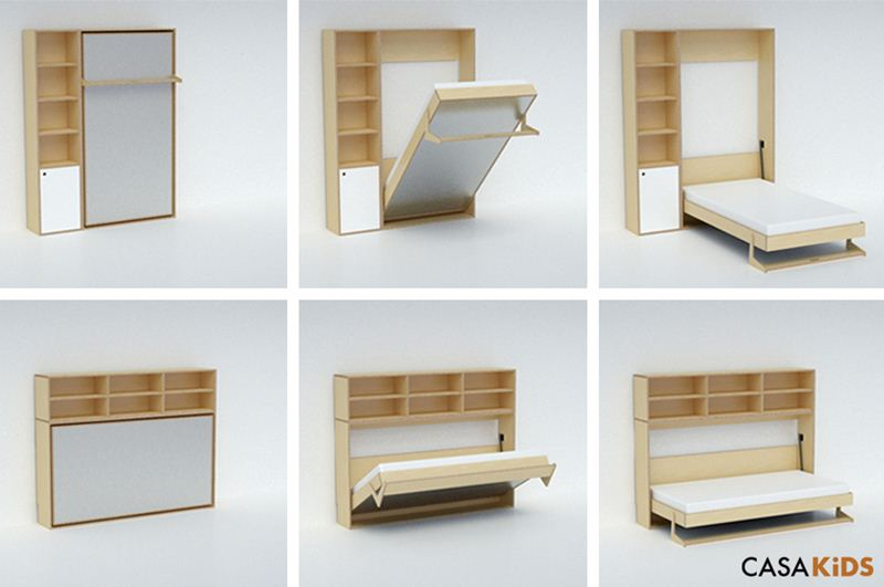 Save Space Bed | Casa Kids Tuck Bed Folds Away To Save Space Inhabitots