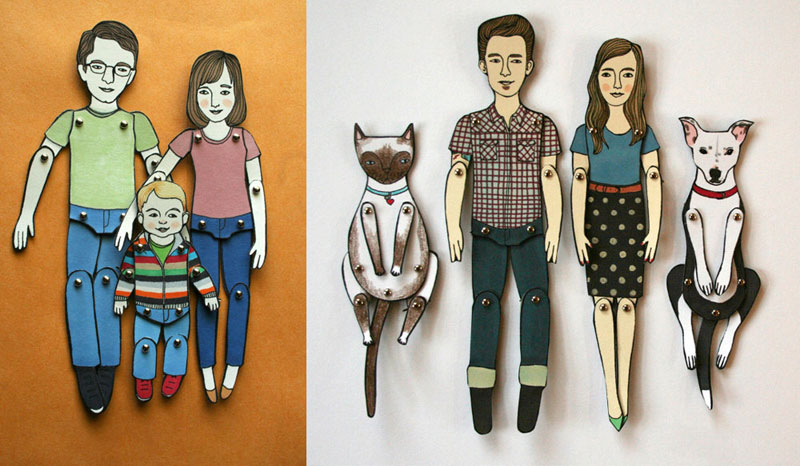 Customized paper dolls