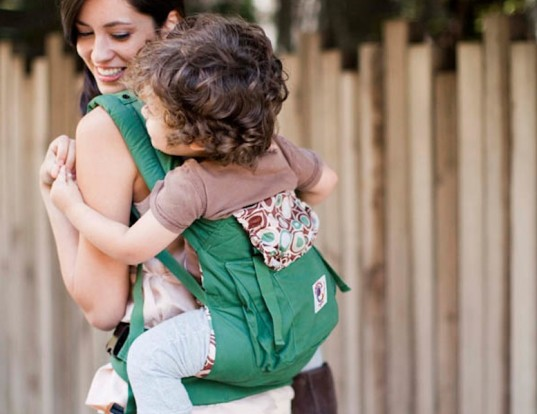 emerald green, ergo, eco-friendly baby carrier, baby wearing