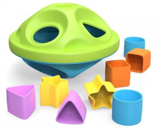 eco toy, eco-friendly rocket, eco-friendly shape sorter, green kids, green toys, green toys for kids