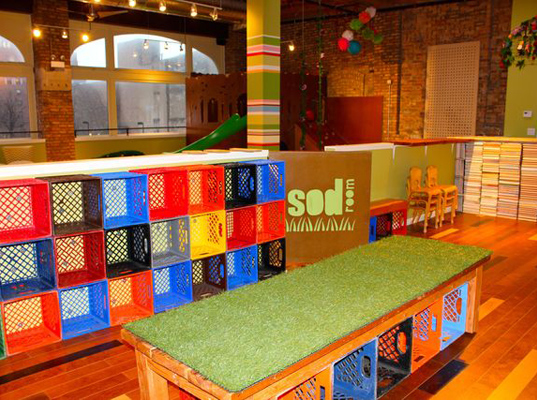 Jen talbot the sod room chicago eco play environmentally for Rooms for kids chicago