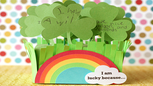 Lisa Storms, Lucky Clover Patch, St. Patrick's Day Craft