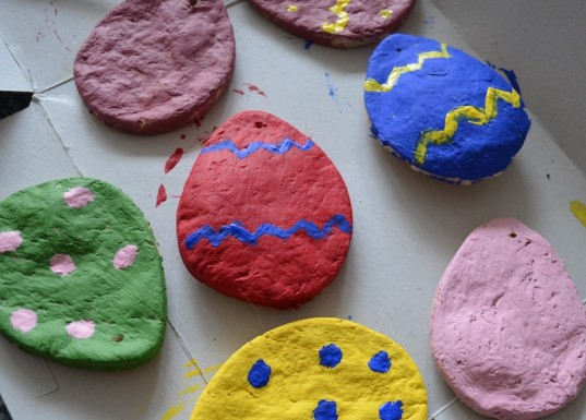 Easter eggs, salt dough Easter eggs, craft, how-to
