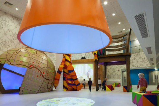 woodland wiggle, royal london children's hospital, chris o'shea, the ann riches healing space, interactive wall, healing