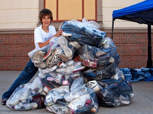 erek hansen, kids helping the planet, boy saves 4,000 pairs of shoes from landfill