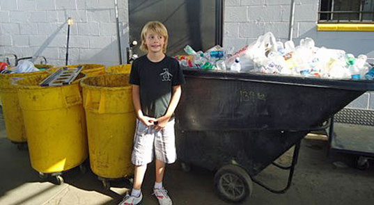 Vanis Buckholz, recycling business helps homeless, kids helping the planet
