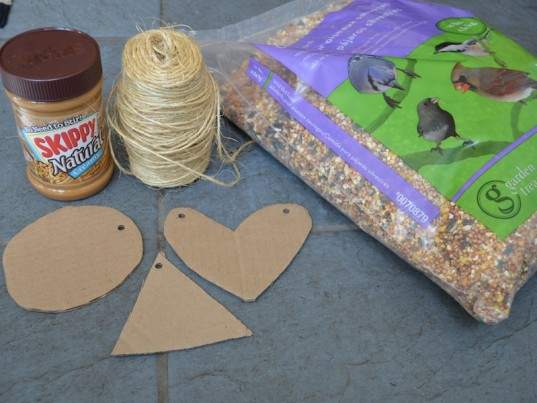 How to make an easy bird feeder to give birds a for Simple recycled materials