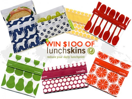 lunchskins giveaway, reduce lunch waste, $100 lunchskins contest