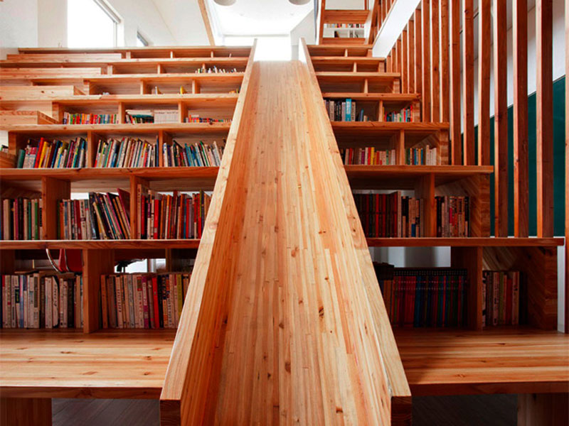 Family Homes Library Slide Lets Kids Slip Right Into A Good Book