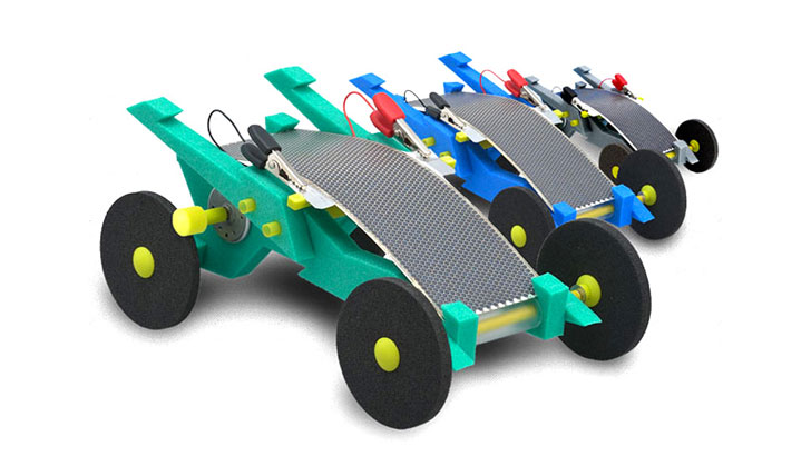 volta racers solared powered toy cars teach kids about renewable energy inhabitots