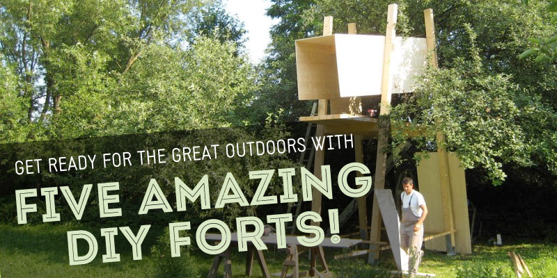 5 fantastic diy forts inhabitots for Homemade forts outdoors