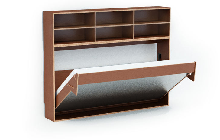 Dumbo Double Tuck Bed Packs Two Folding Beds Into One Wall