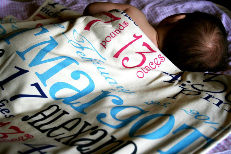 personalized birth story keepsake blankets let baby s details unfold