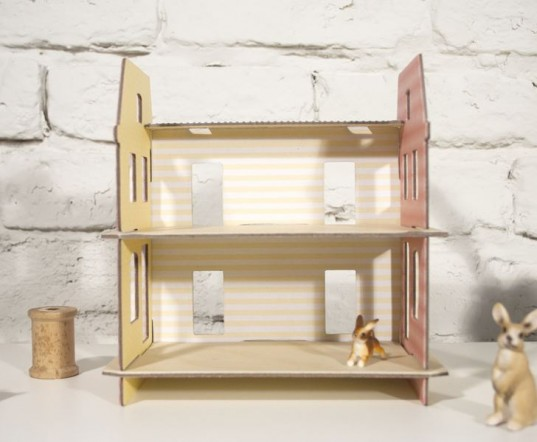 alyson beaton, dollhouse, eco dollhouse, eco play, green design for kids, green dollhouse, green gifts, green kids, green toys, grow books press, kickstarter dollhouse, kickstarter project, kid friendly, lille huset, lille huset dollhouse, made in the usa, modern dollhouse, recycled dollhouse