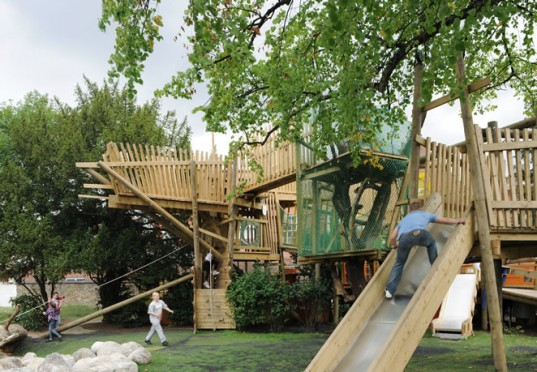kilburn grange adventure play park, playgrounds, green building, green playgrounds, London, play, exercise, outdoors