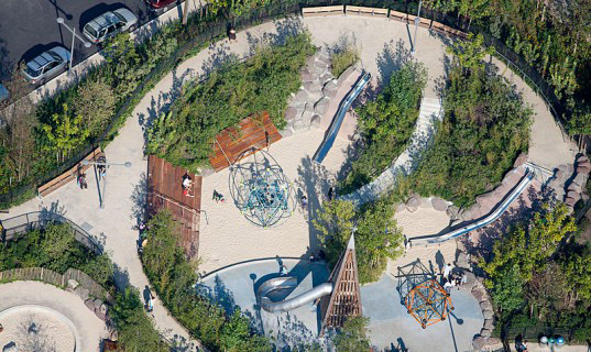 nyc, playgrounds, play, outdoors, green playgrounds, exercise, green building, rainwater