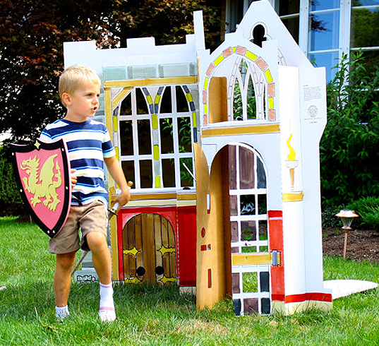 Build a Dream PLayhouse, flat packed playhouse, sustainable fort, recycled materials
