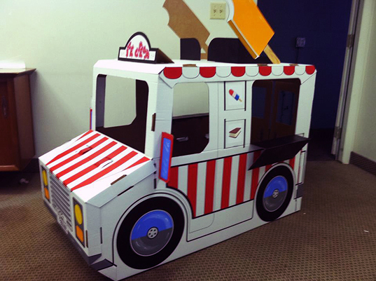how to make an ice cream truck out of cardboard