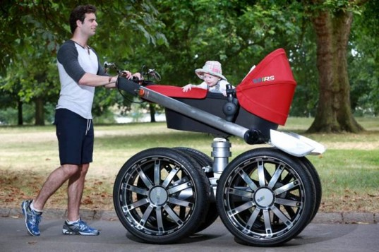 man stroller, man pram, good dads, bad dads, involved dads, baby care, manly stroller, stroller for men