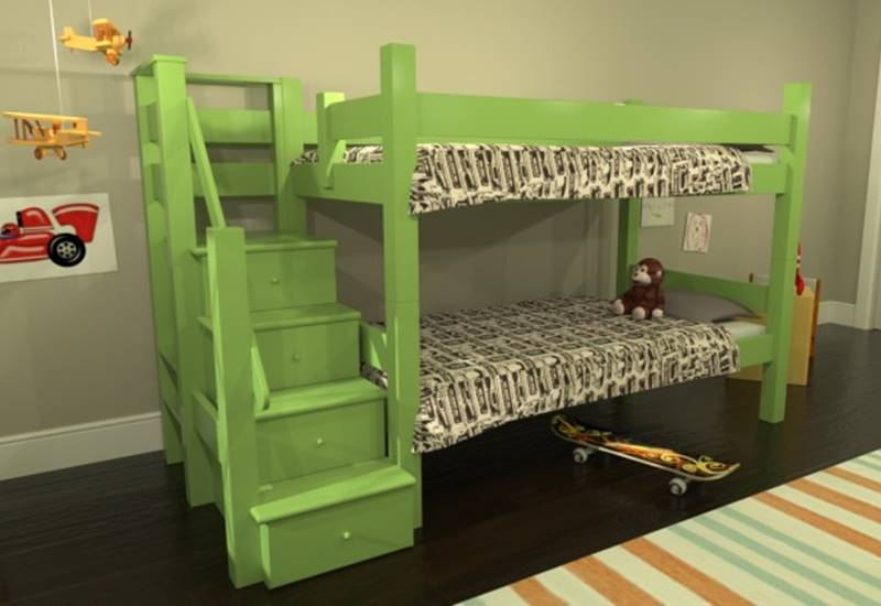 Sustainably Crafted Maine Bunk Beds Come In Many Configurations A