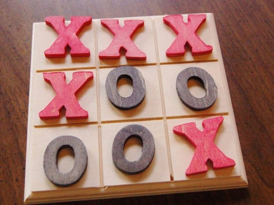 Natural Wood Toy- Tic Tac Toe Game
