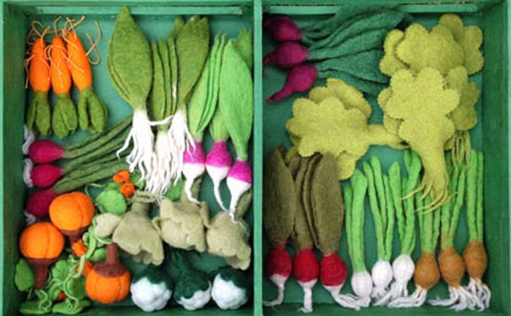 Grow a garden felt veggie kit is a bountiful toy for for Indoor gardening kit green toys