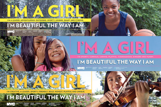 nyc girls project, new york city, ad campaign, self esteem