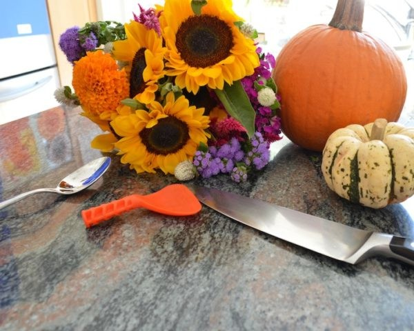 How To Turn A Pumpkin Into A Flower Vase Inhabitots
