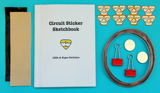 Electronic stickers, interactive games, chinitronics, circuit stickers, led stickers, led circuit, sketchbook, lead-free toys, stickers, arts and crafts