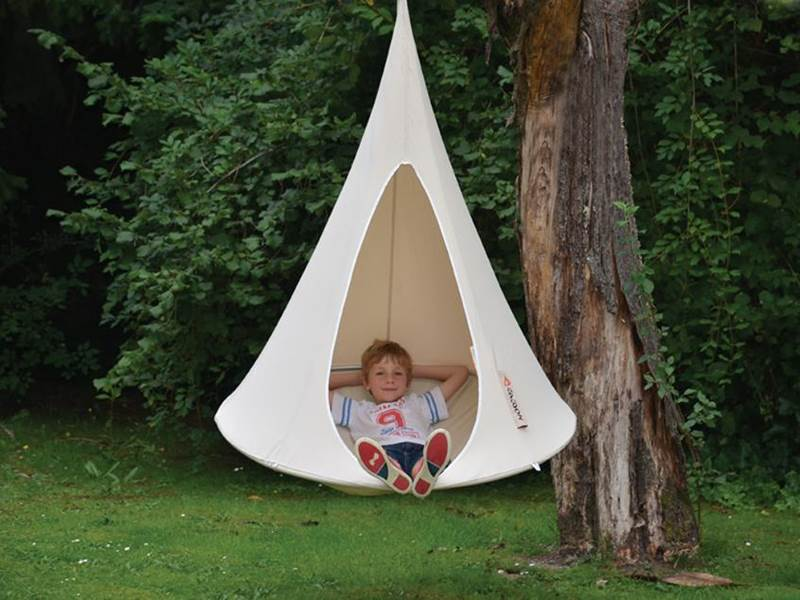 Cacoon An Indoor Outdoor Hanging Tent That You Can Take Anywhere
