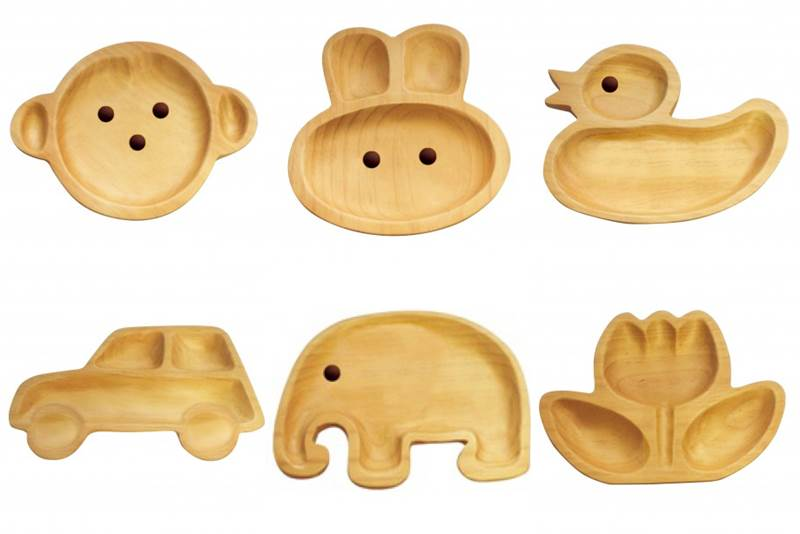 bpa free wooden character plates add some zest to mealtime
