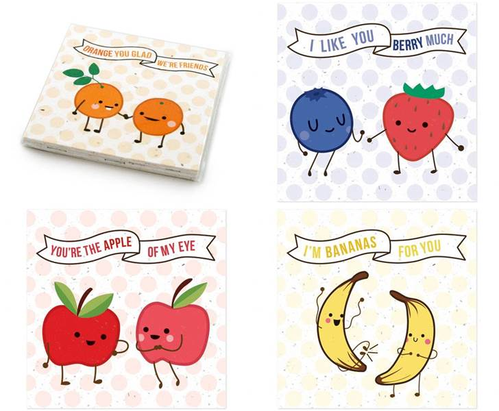fruit friends valentines day cards – Friend Valentines Card