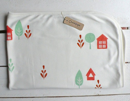 organic baby blankets, once hope, swaddling blankets, green baby gifts