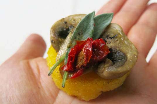 polenta shapes, sundried tomato, cooking, how-to, recipe, snack, vegan cooking